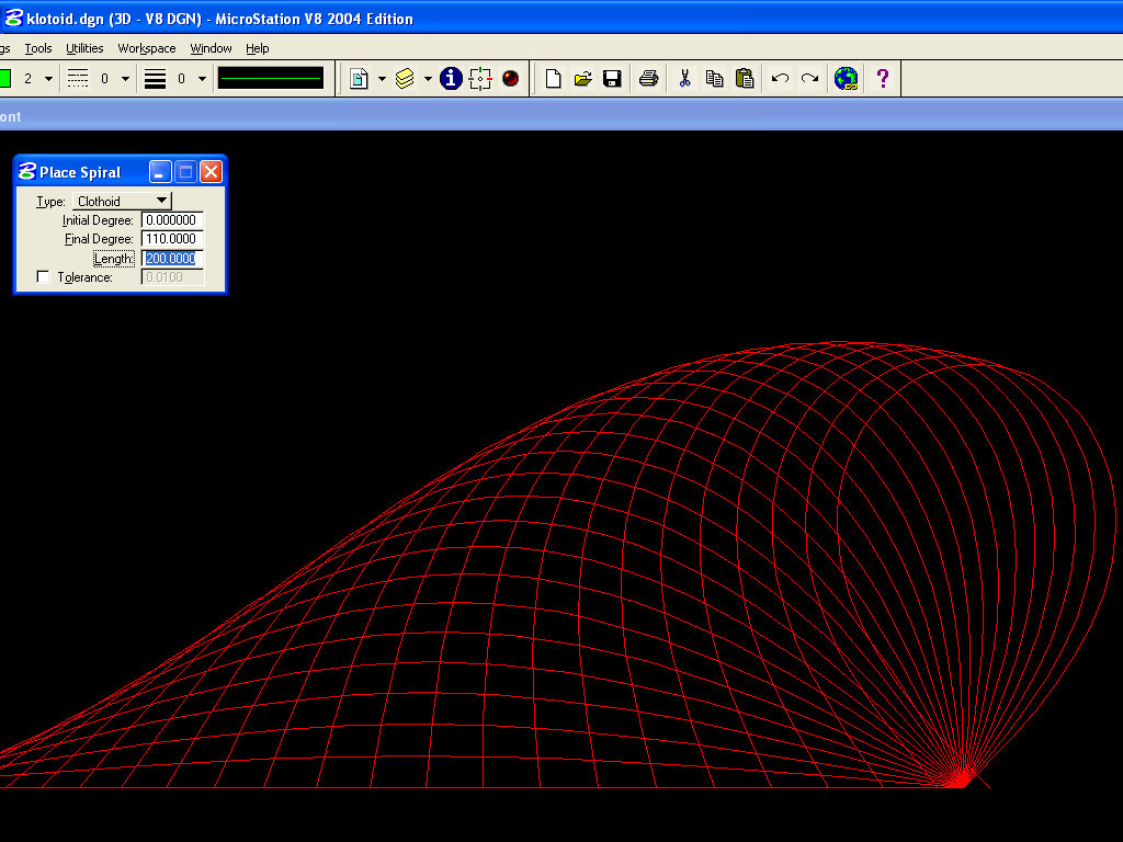 Drawing Lines In Microstation : The geometry of bending cornu spirals in microstation